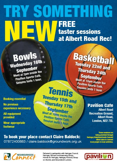 free sports taster sessions