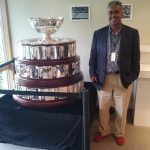 Robby with the Davis Cup Trophy