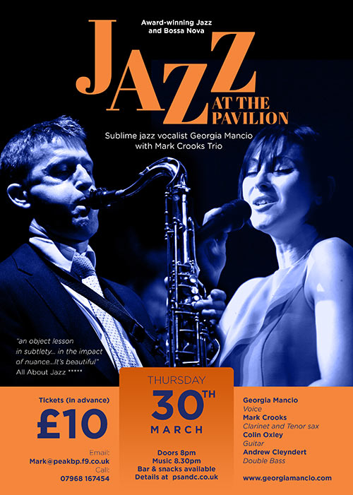 Mark Crooks & Georgia Mancio Jazz gig