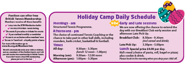 Kids Easter Holidays Tennis Camp 2016