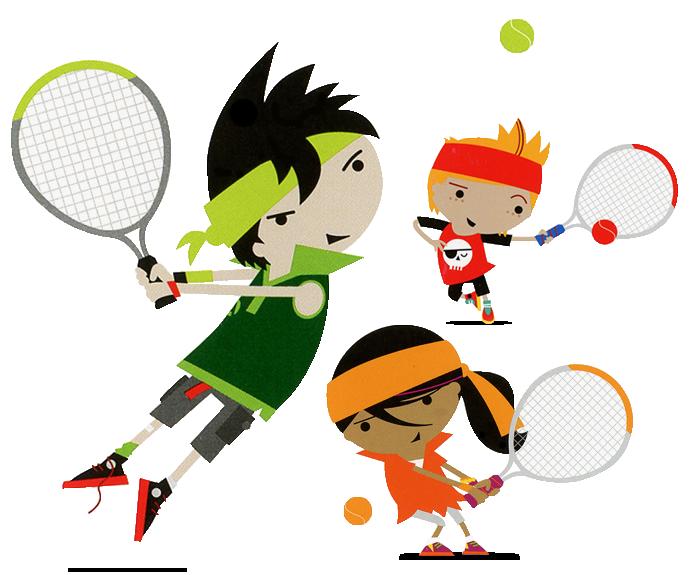 kids tennis characters
