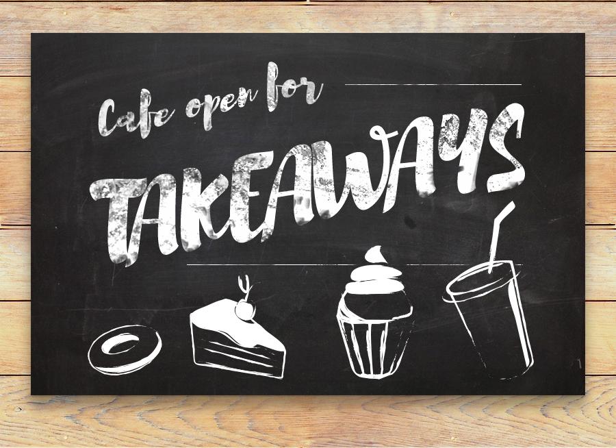 cafe open for takeaways